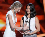 Taylor Swift and Olivia Munn