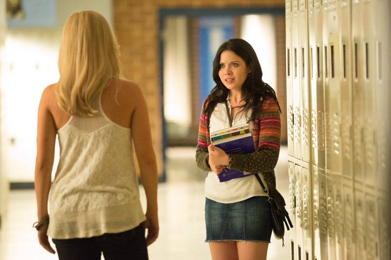 April (Grace Phipps) seems to be Mystic Falls' new trouble magnet. Case in point: she's responsible for Rebekah's (Claire Holt) release.