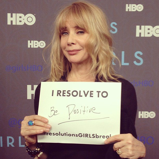 "Rosanna Arquette will be on Girls season two, and shared her ""resolution girls break."" Source: Instagram user girlshbo"