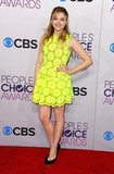 Chloë Moretz wore a pop of color.