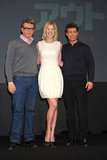 Tom Cruise posed with Rosamund Pike and director Christopher McQuarrie.