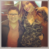 Sofia Vergara and Rico Rodriguez posed together on the set of Modern Family. Source: Sofia Vergara on WhoSay