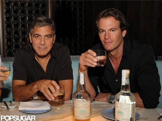 George Clooney and Rande Gerber Drink Up at Their Tequila Launch