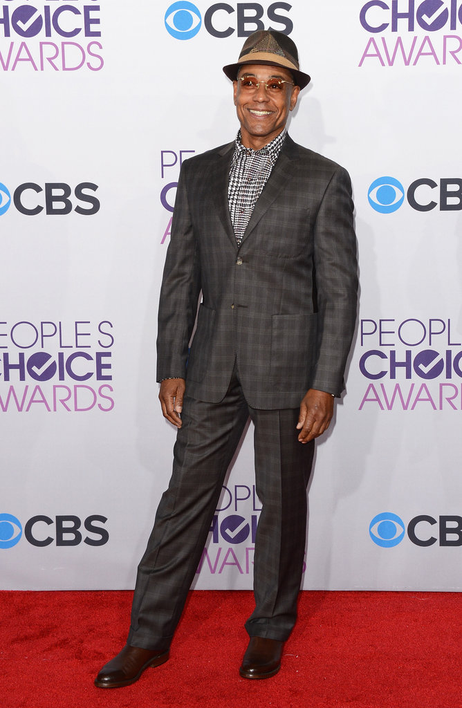 Giancarolo Esposito looked dapper in a suit.