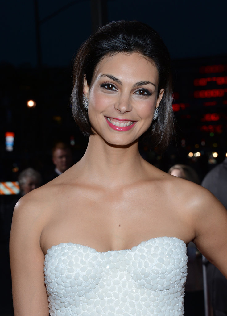 Morena Baccarin wore a white look.