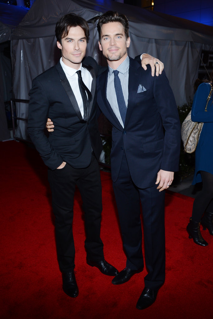 Ian Somerhalder and Matt Bomer linked up on the red carpet at the People's Choice Awards.