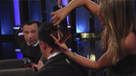 Video: Jennifer Aniston Destroys Jimmy Kimmel's Set and Hair!