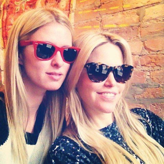 Nicky Hilton sported sunglasses with a friend. Source: Twitter user NickyHilton
