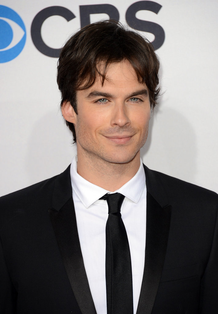 Ian Somerhalder posed solo.