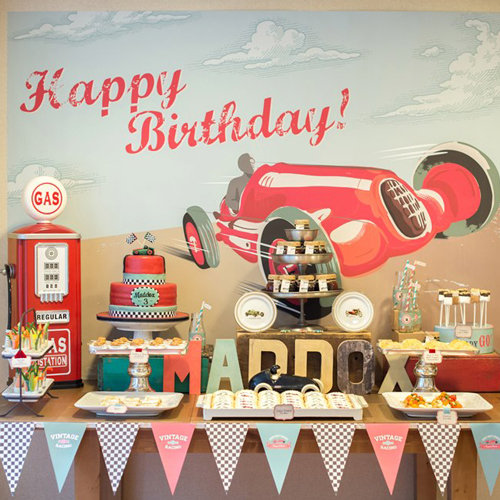 Vintage Race Car Birthday Party Pictures