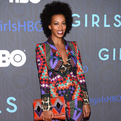 Solange Knowles Wearing Printed Suit