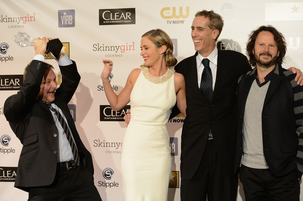 Rian Johnson, Emily Blunt, Peter Schlessel, and Ram Bergman