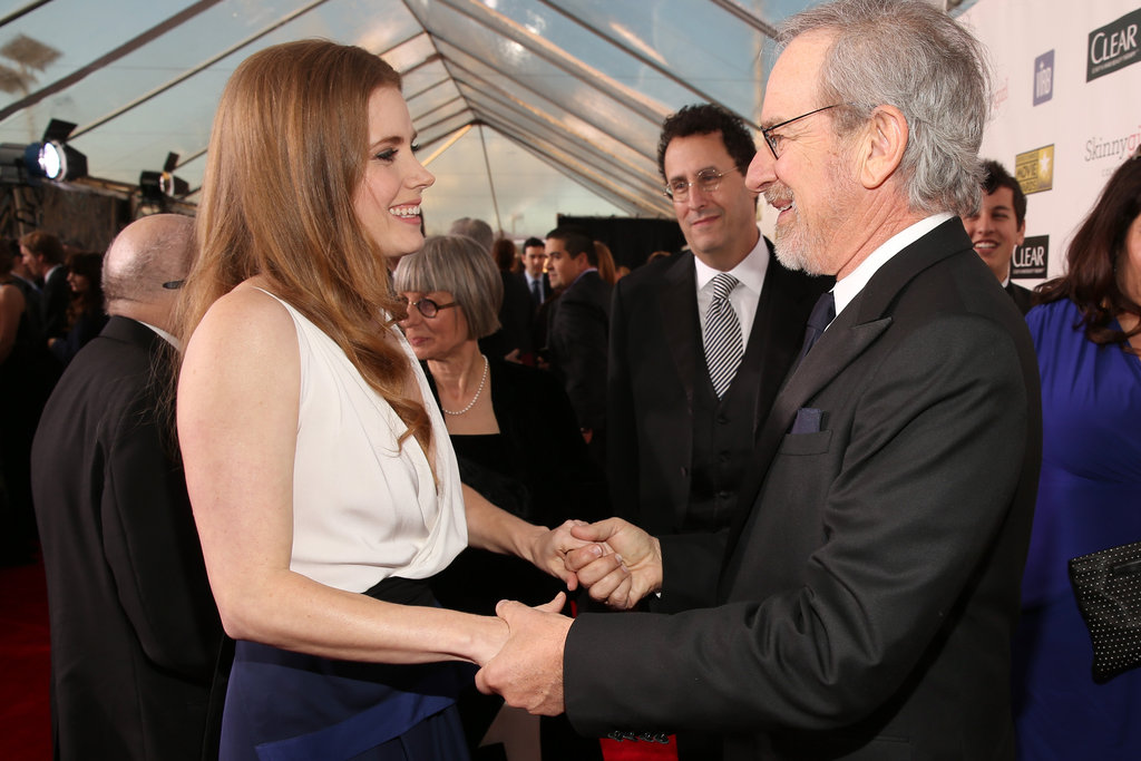 Amy Adams and Steven Spielberg