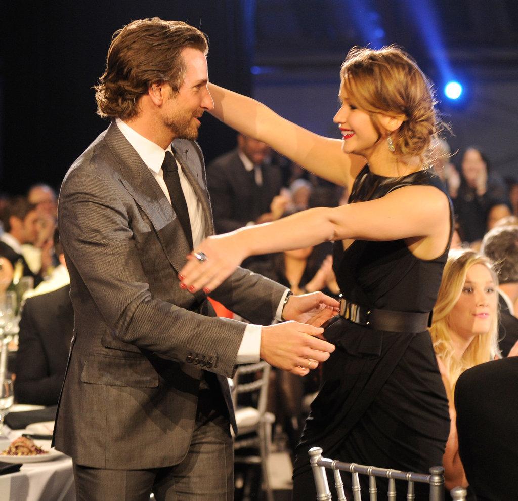 Bradley Cooper and Jennifer Lawrence