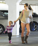 Amy Adams took Aviana out in LA.