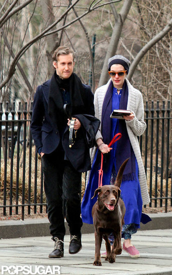 Anne and Adam Take a Smiley NYC Stroll Ahead of Her Oscar News