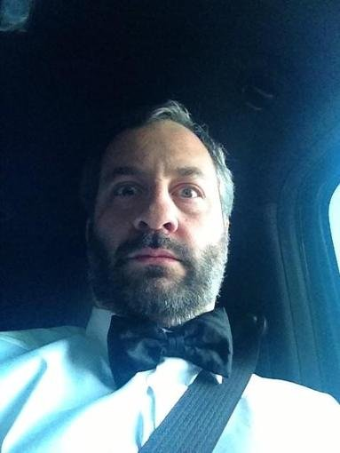 Judd Apatow sported a bow tie (and seat belt) while making his way to the CCAs red carpet. Source: Twitter user JuddApatow