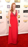 Jessica Chastain wore a Prada gown to the Critics' Choice Awards.