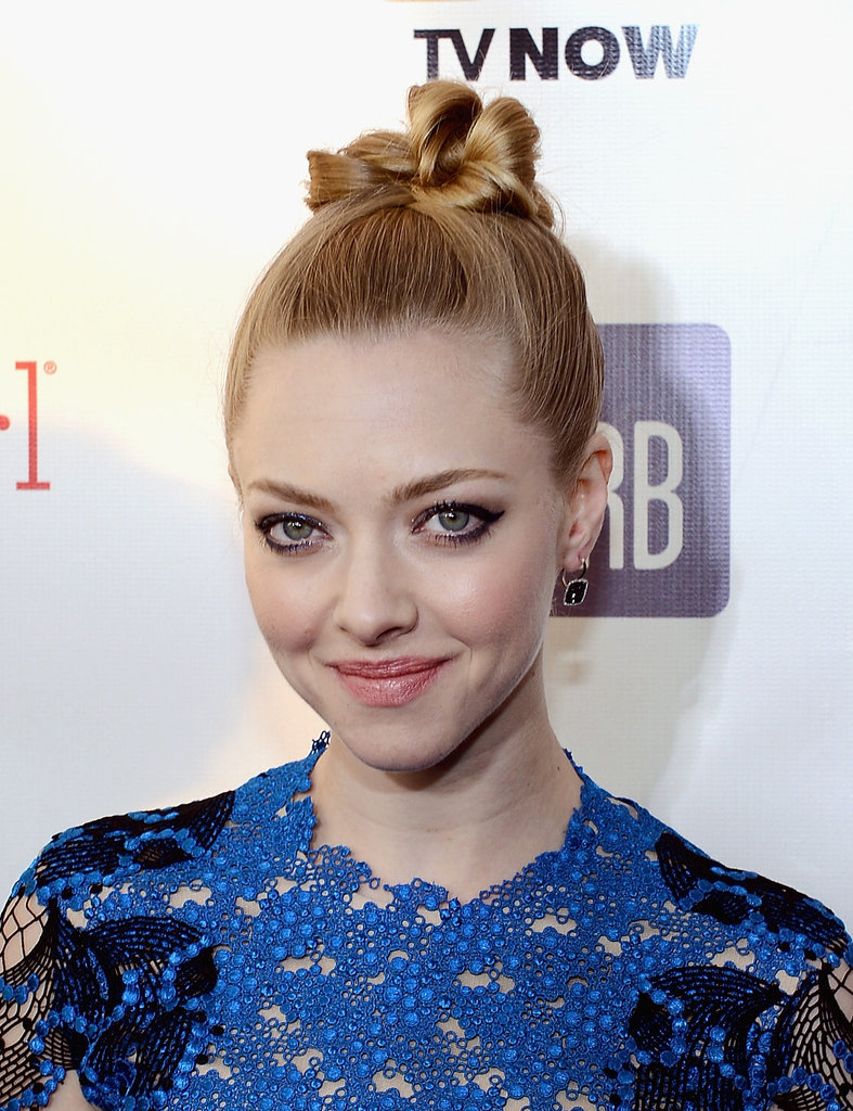 Amanda Seyfried wore her hair up on the red carpet.