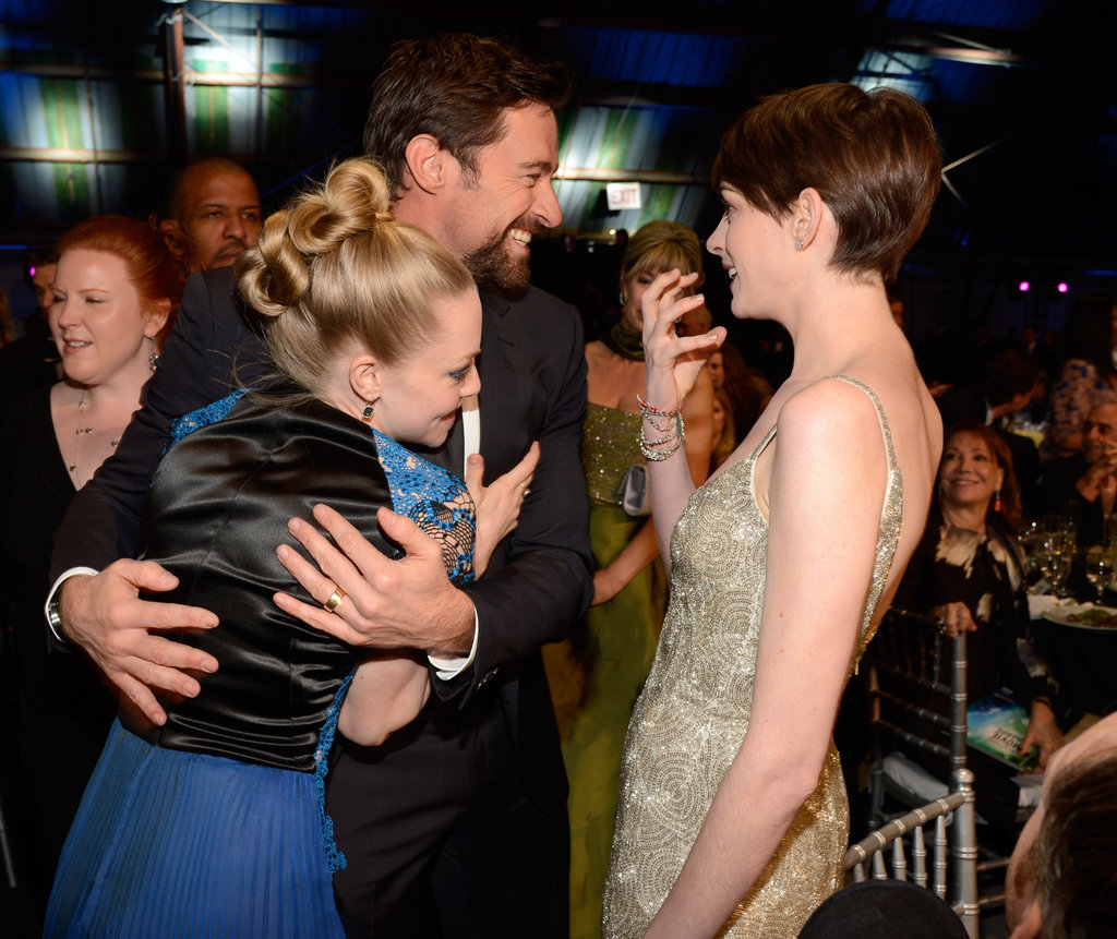 Amanda Seyfried, Hugh Jackman, and Anne Hathaway got silly during the Critics' Choice Awards.