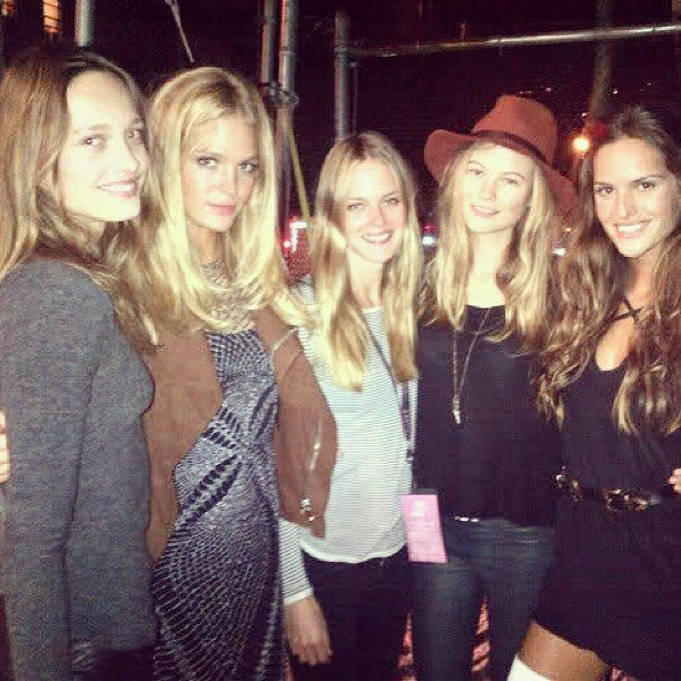 It was a model's day out for Izabel Goulart, Behati Prinsloo, and Erin Heatherton. Source: Instagram user izabel_goulart