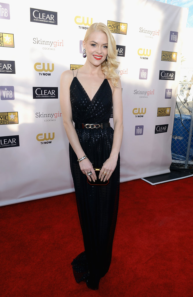 Jaime King chanelled Jerry Hall in this sexy, black Jason Wu number.
