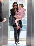 Jennifer Garner carried Seraphina in LA.