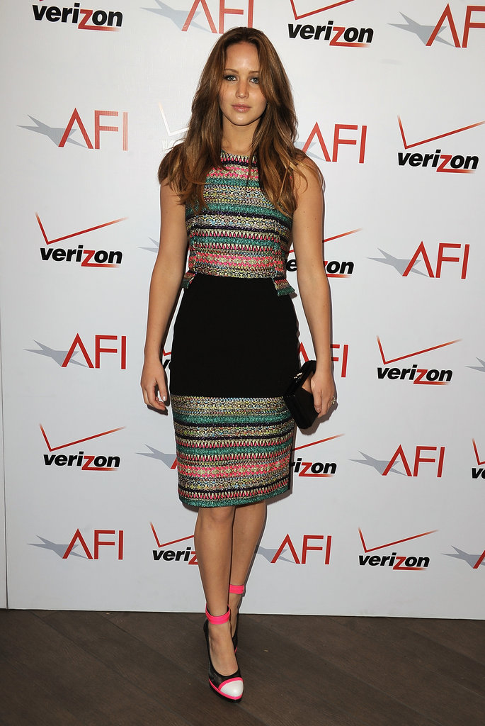 Jennifer Lawrence Makes a Colourful Stop at the AFI Awards