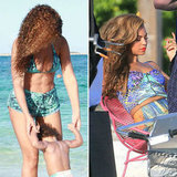 Bikini-Clad Beyoncé Takes Blue Ivy to the Beach Following a Photo Shoot