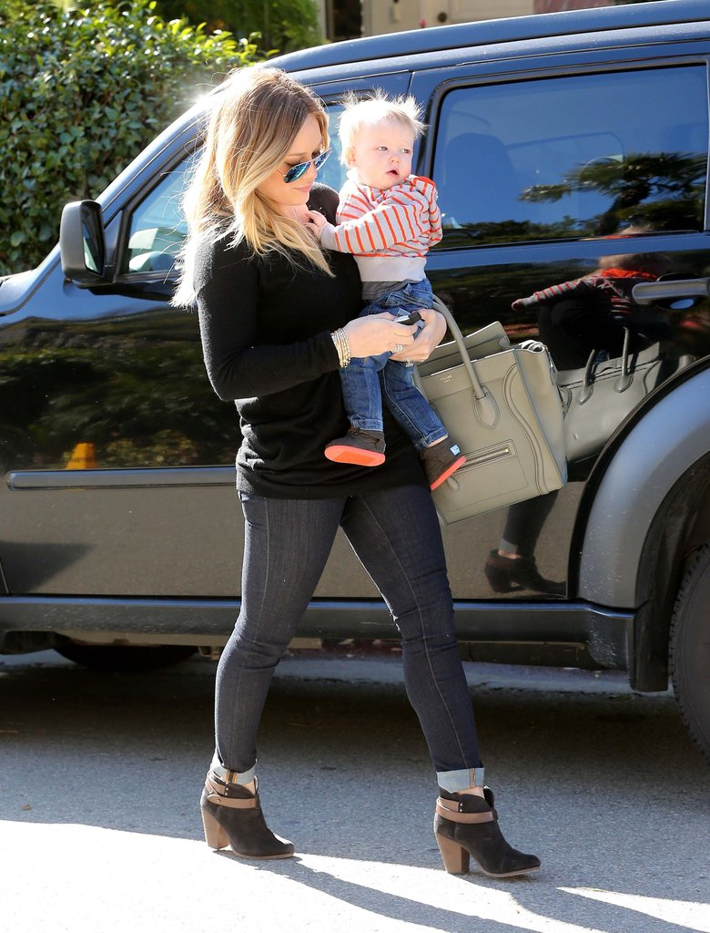 Hilary Duff gave Luca Comrie a lift.