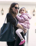 Jennifer Garner Preps For the Golden Globes With Seraphina