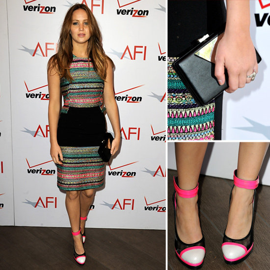 Jennifer Lawrence Wearing Prabal Gurung at AFI Lunch 2013