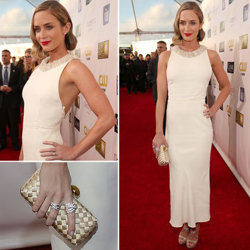Pics of Emily Blunt in Miu Miu 2013 Critic's Choice Awards