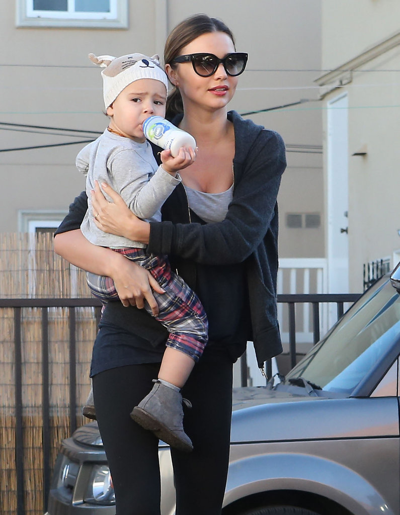 Miranda Kerr and Flynn Bloom had an early morning in Beverly Hills.