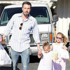 Ben Affleck With Daughters at Farmers Market in LA