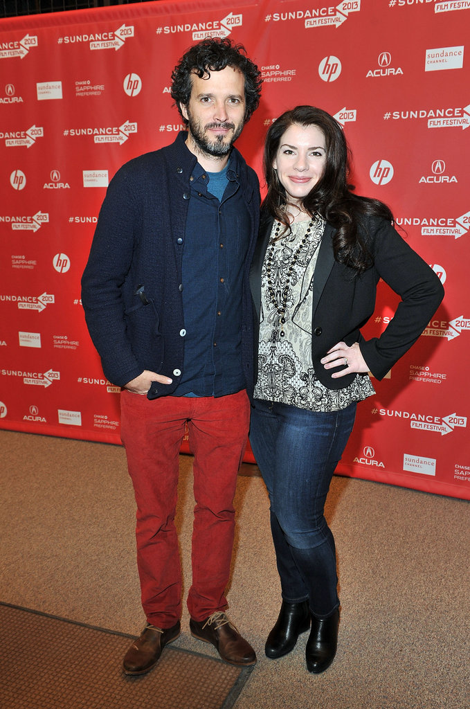 Bret McKenzie posed on the red carpet with Stephenie Meyer.