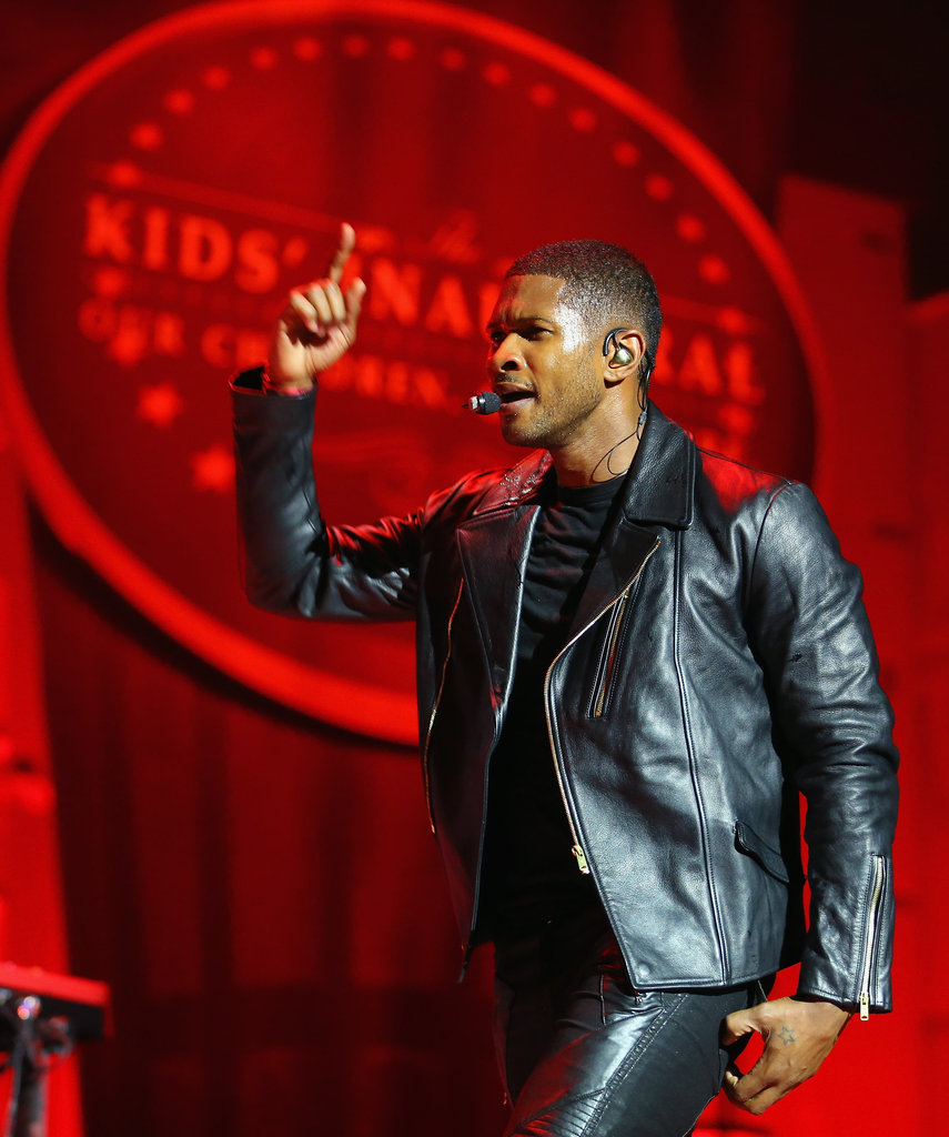 Usher got down at the Kids' Inaugural.