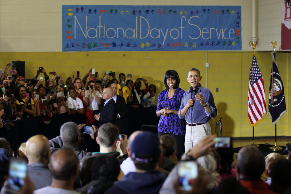 The National Day of Service was the first official event for the president during the inaugural weekend.