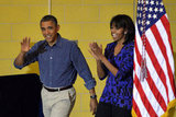 The Obamas volunteered on Saturday.