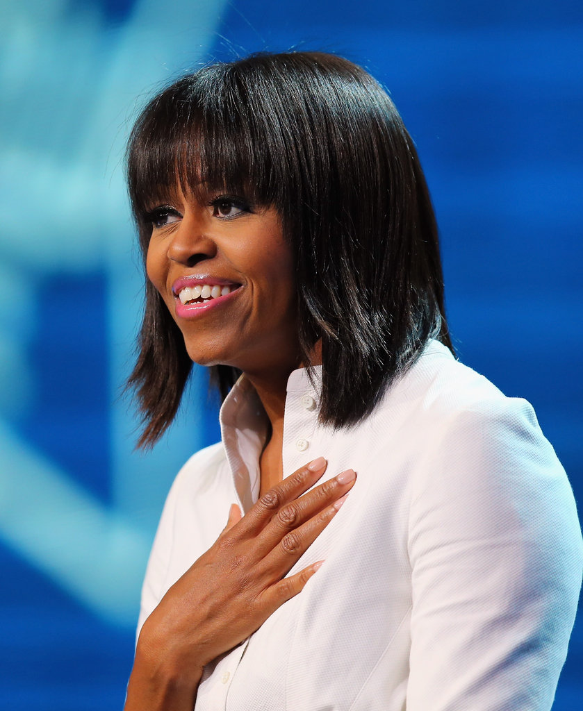 Michelle Obama addressed military families at the Kids' Inaugural.