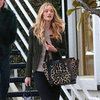 Rosie Huntington Whiteley Carrying Leopard Bag