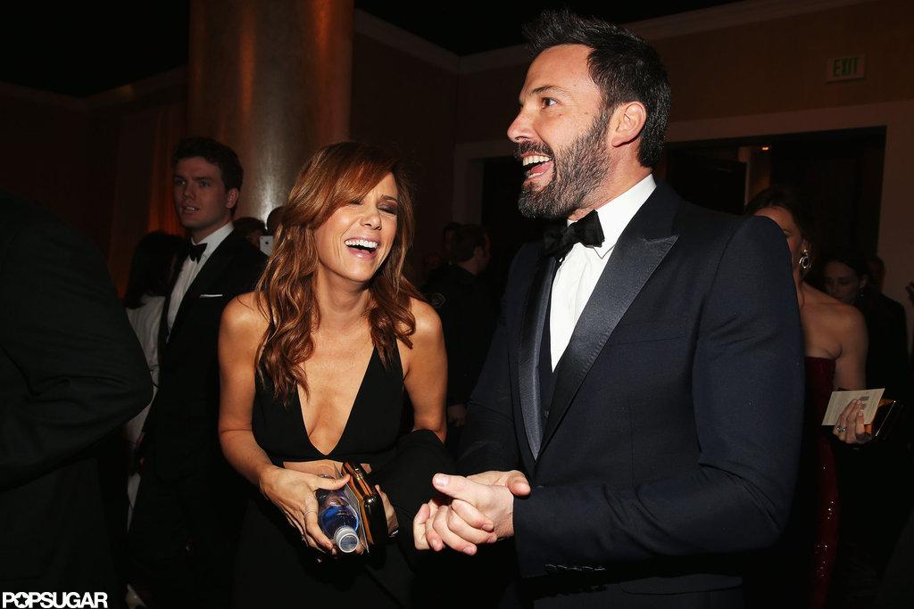 Ben Affleck and Kristen Wiig shared a laugh.