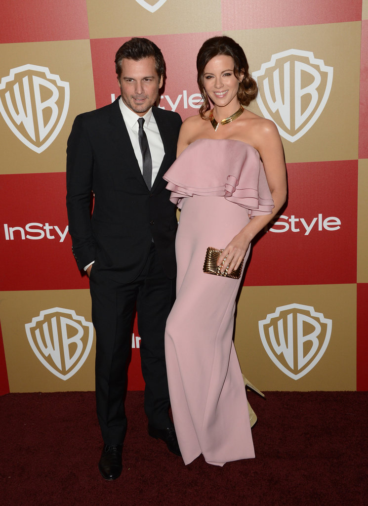 Kate Beckinsale and Len Wiseman paired up on the carpet.