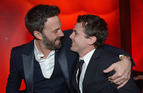 Ben Affleck put an arm around his brother, Casey Affleck, at InStyle's party.