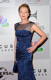 Julie White was a vision in blue at the NBC party.