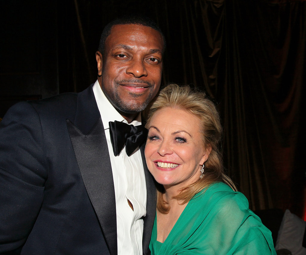 Funny man Chris Tucker smiled with Jacki Weaver.