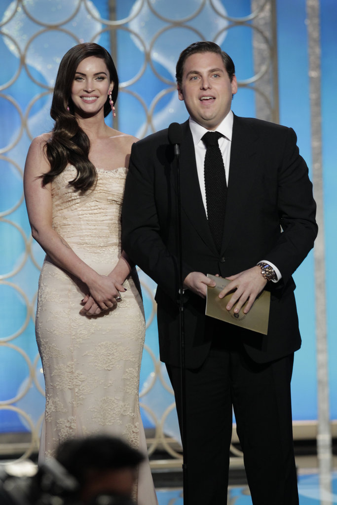 Megan Fox and Jonah Hill took the stage to present an award.