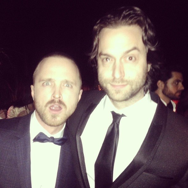 Aaron Paul and Chris D'Elia partied together in style after the SAG Awards. Source: Instagram user chrisdelia