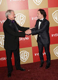 Victor Garber and Paul Rudd shared a moment on the carpet.