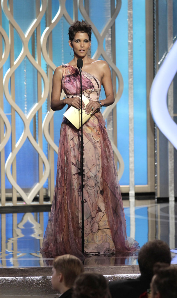 Halle Berry presented best director at the Golden Globes.